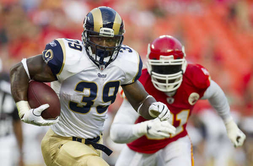 Steven Jackson s runs on Friday night in Kansas City were a little less  hairy than normal (Getty Images). efeb8f3f9