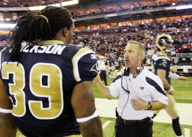 Steve Spagnuolo coached SJ for three seasons and the two developed a mutual admiration (UPI).