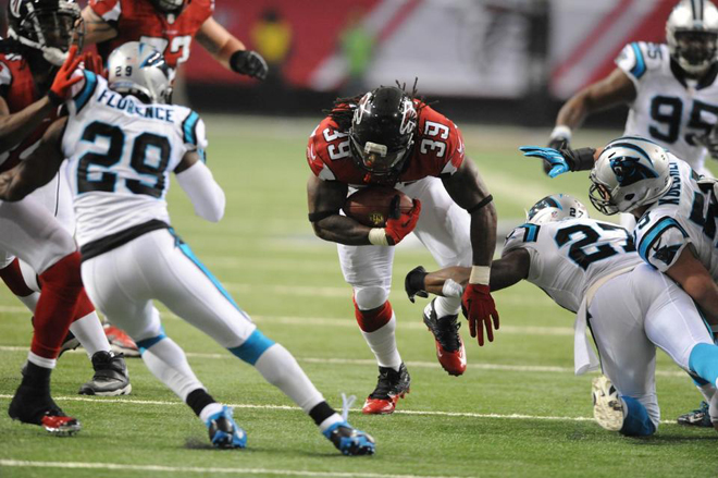 As I look ahead and get ready for another run, I'm blessed to be healthy and strong (Falcons.com Photo).