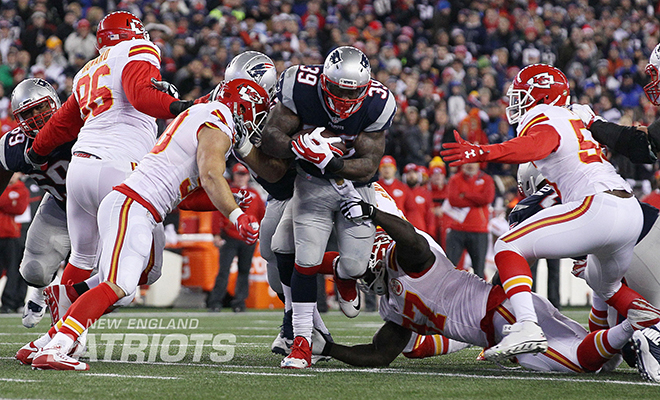 Steven's first playoff appearance since 2004 came last week against Kansas City (New England Patriots Photo).