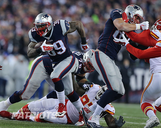 SJ39 has tallied 70 total yards and one touchdown thus far with the Patriots (New England Patriots Photo).