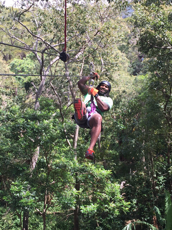 Anytime I get a chance to zip line in the jungle it's a must for me. This was in Nicaragua.