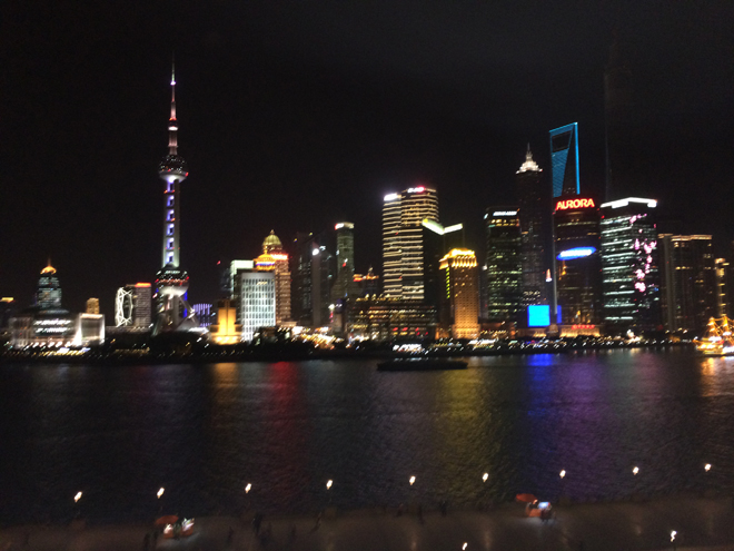 Shanghai is a beautiful city and kind of reminded me of New York or Toronto.