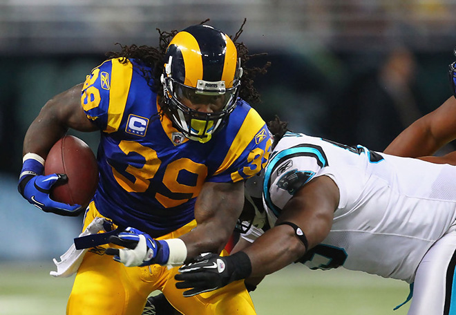 With more than 10,000 yards in blue and gold, SJ stands as the all-time leading rusher in Rams history.