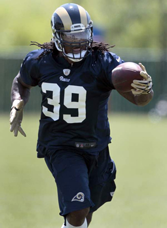 SJ Puts in work during OTAs at Rams Park (AP Photo).