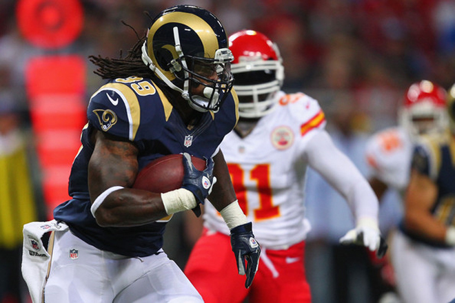 No. 39 averaged seven yards per carry as the Rams first team offense put up 151 total yards (Getty Images).