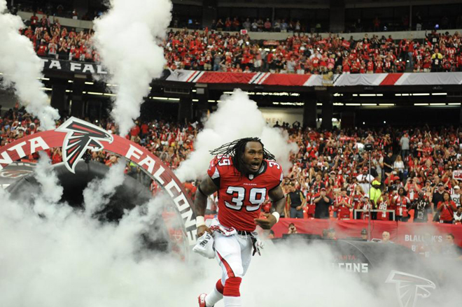 SJ took the field for his second season with the Falcons and helped them to a Week 1 win over New Orleans (Falcons photo).