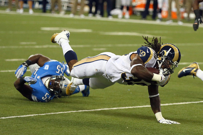 The best efforts of the Rams to pick up a big first win came up just short on Sunday (Getty Images).