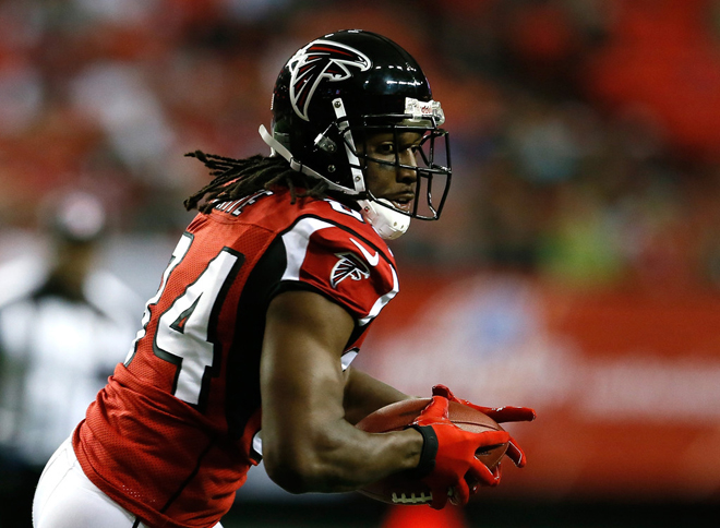 Roddy White gutted it out to try and help us win on Sunday and I respect him even more for that (Getty Images).
