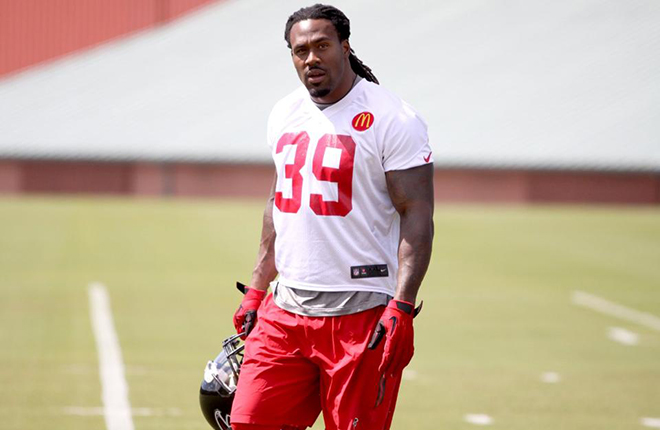 With a few extra days of rest and practice, SJ39 and the Falcons are ready to hit the road vs. MIN (Atlanta Falcons photo).