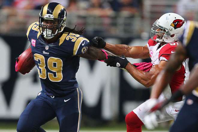 Steven and the Rams ran away from the Cardinals to move above .500 for the first time in six years (Getty Images).