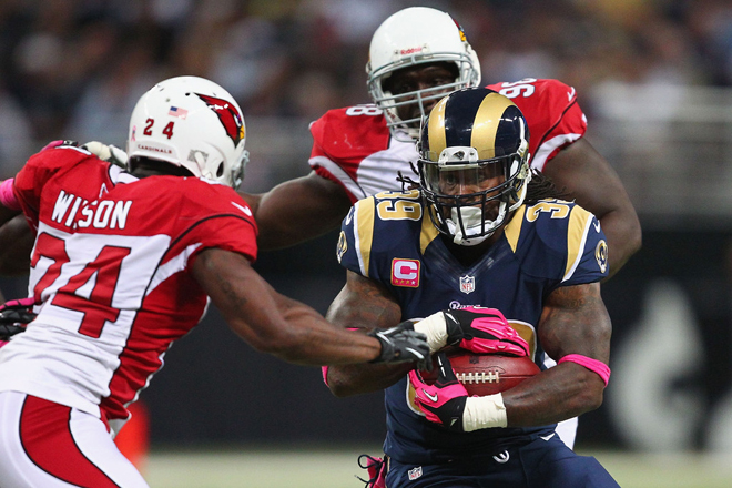 The Rams rode Steven to 57 second half yards on 13 carries (Getty Images).