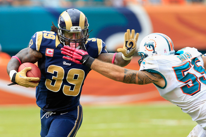 SJ39 found chunks of yardage in the highly ranked Dolphins defense (Getty Images).