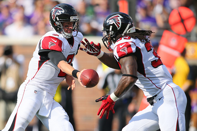 Though the Falcons have been stronger in passing the ball than running it, Steven says they can't abandon the run.