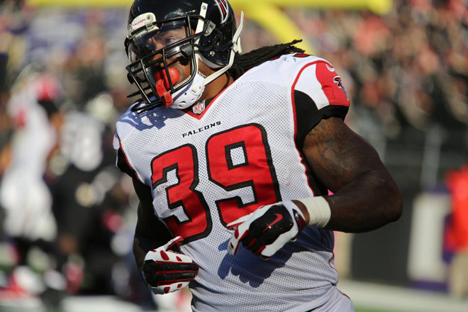 SJ was limited to just 25 total yards on nine touches as the Falcons lost 29-7 in Baltimore.