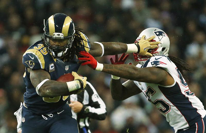 No. 39 took on the New England Patriots in London just two seasons ago while with the St. Louis Rams.