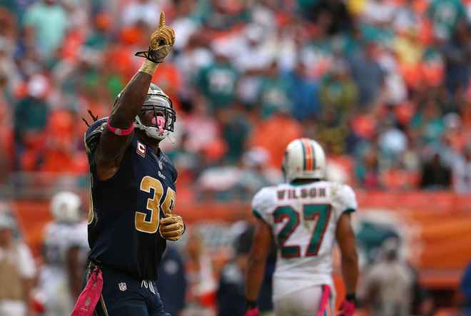 After a solid outing in Miami, SJ and the Rams rushing attack plan to rise against Green Bay (Getty Images).