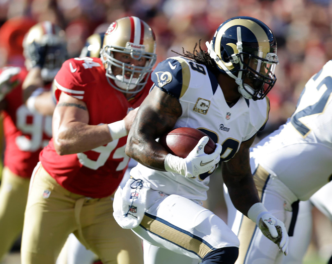 I consider myself an all-around back and work hard to help my team in all facets (Rams.com).