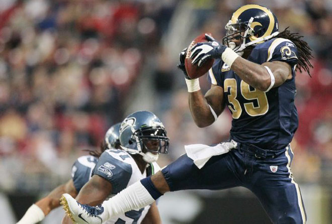 SJ39 was asked to play wide receiver on several occasions and came down with three catches (St. Louis Post-Dispatch).