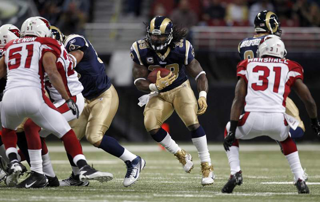 Steven Jackson rushed for 64 yards, but the Rams dropped their second straight game, 23-20 to the Cardinals