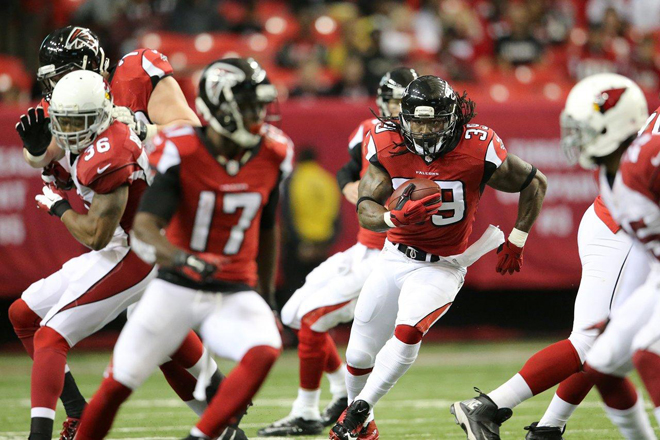 The Falcons maintained a balanced offense for the entire afternoon and it paid dividends against a tough Cardinals defense.