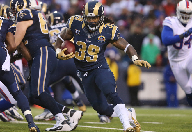 Steven carried 19 times for 64 yards, but his third quarter TD and late game runs were crucial for the Rams (Getty Images).