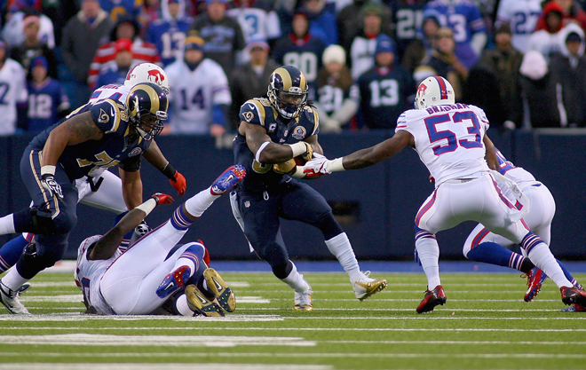 Steven found two big creases in the Bills defense to open the Rams' final drive and help push them toward a game-winning score.