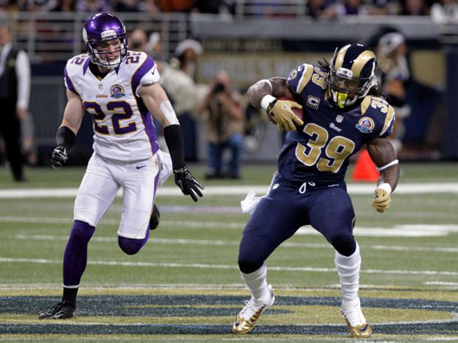Steven had 146 yards from scrimmage in Sunday's game, but the Rams lost 36-22.