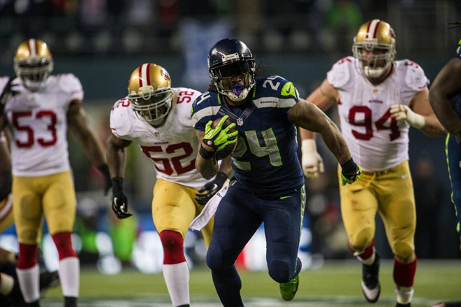 I've been watching Marshawn Lynch since his college days and he's a game-change for Seattle.