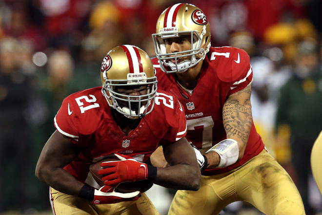 Frank Gore is a player I admire and I've been completely impressed by Colin Kaepernick (Getty Images).