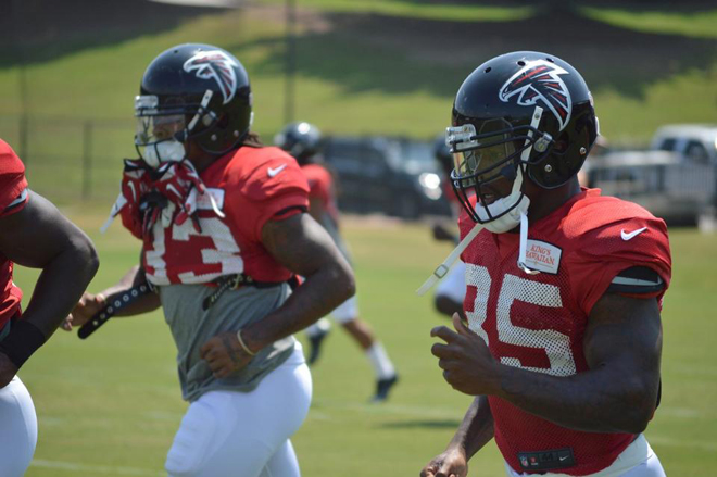 All of our running backs are committed to seeing each other, and the team succeed (Atlanta Falcons photo).