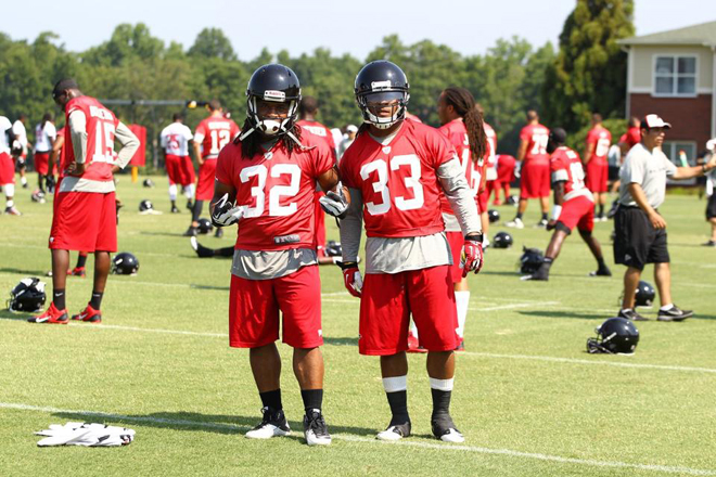 Two great young running backs, Jacquizz Rodgers and Devonta Freeman.