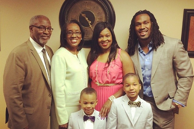 My father, mother, sister, my two sons and I this past Easter.