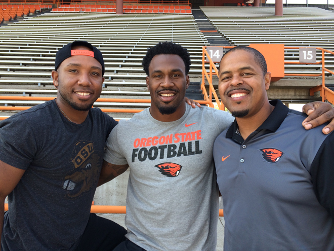 It was great spending time with Yvenson Bernard and Ken Simonton at Oregon State camp.