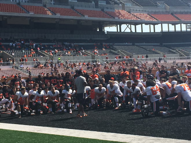 Had a great talk with the team, encouraging them to be proud Oregon State Beavers.