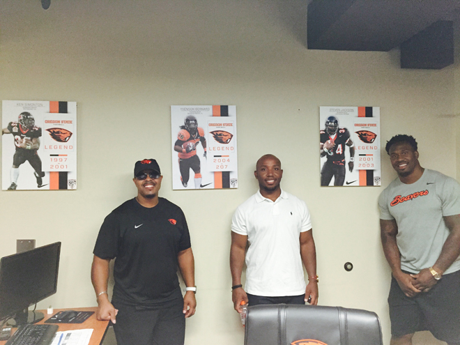 Three of Oregon State Football's Top 4 all-time leading rushers.