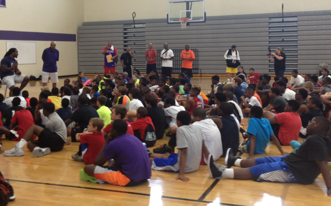 I always enjoy speaking to and interacting with children at schools and camps during the offseason.