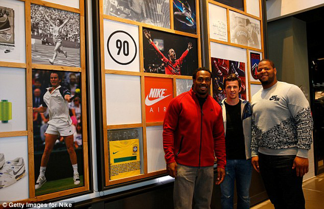 On Tuesday, Steven was part of an event at Niketown in Oxford Circus with Ndamukong Suh and footballer Joey Barton