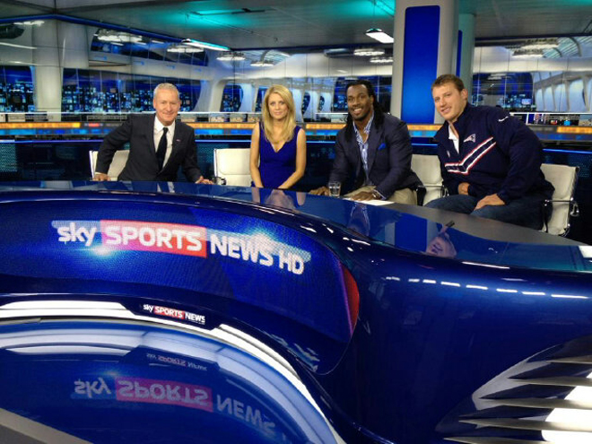 Live on Sky Sports News with Nate Solder of the Patriots.